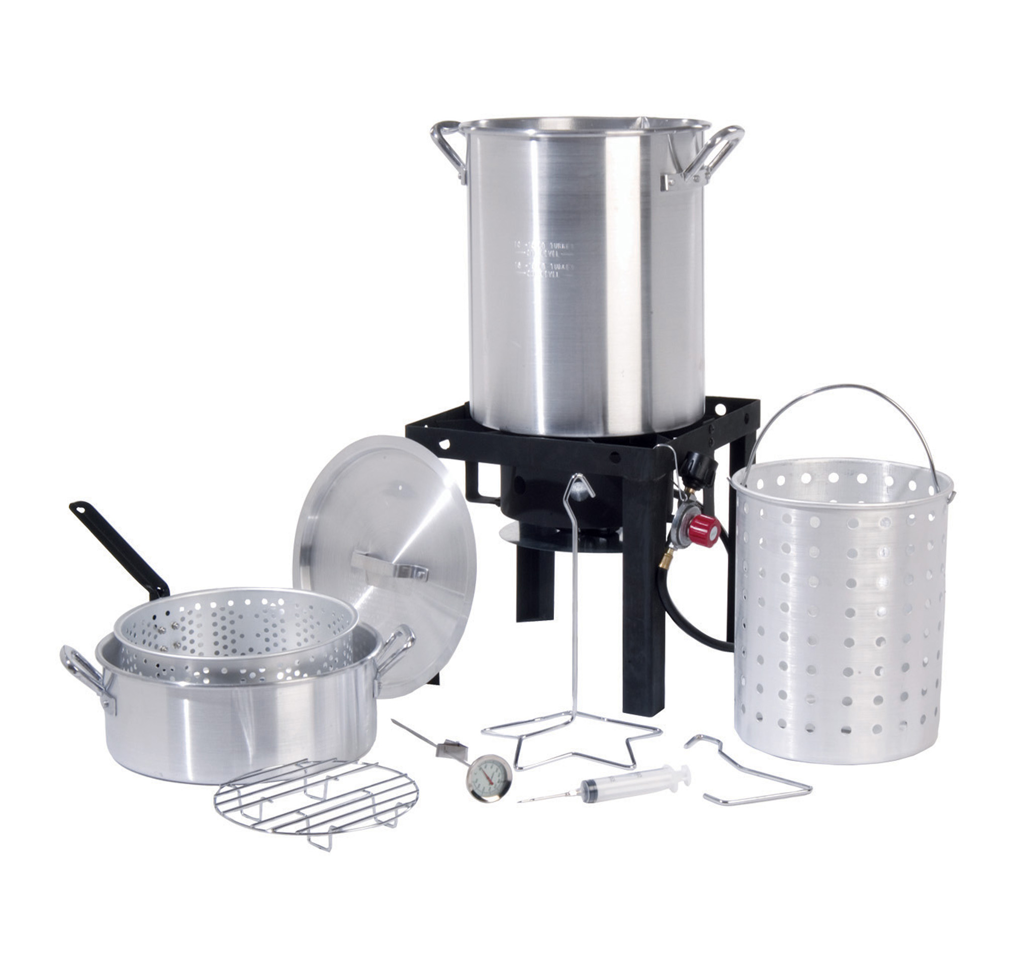 30 QT.  Deluxe Aluminum  Turkey Fryer