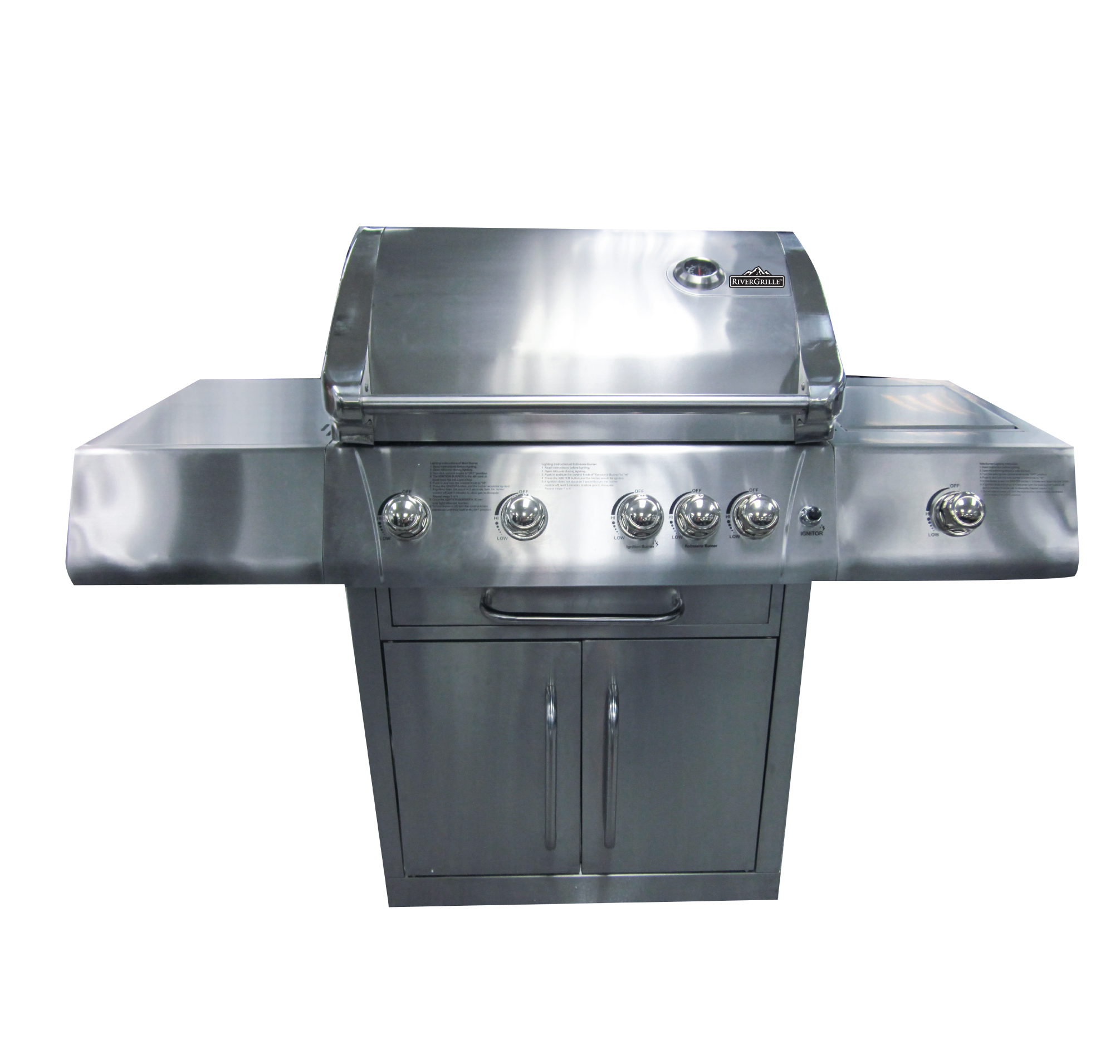 4 Burner+Rotisserie Stainless Steel Gas Grill