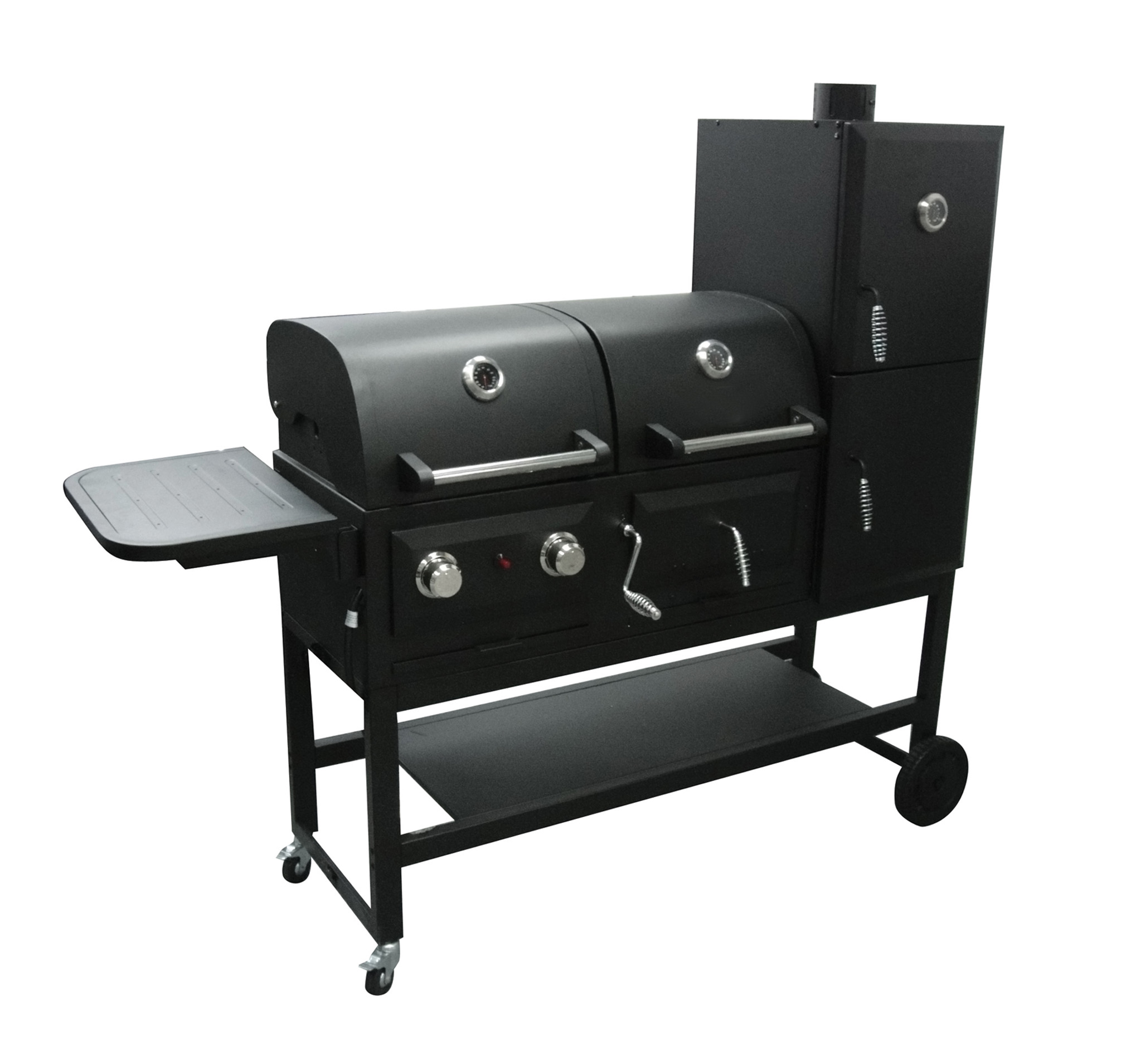 in 1 Gas & Charcoal Smoker Grill