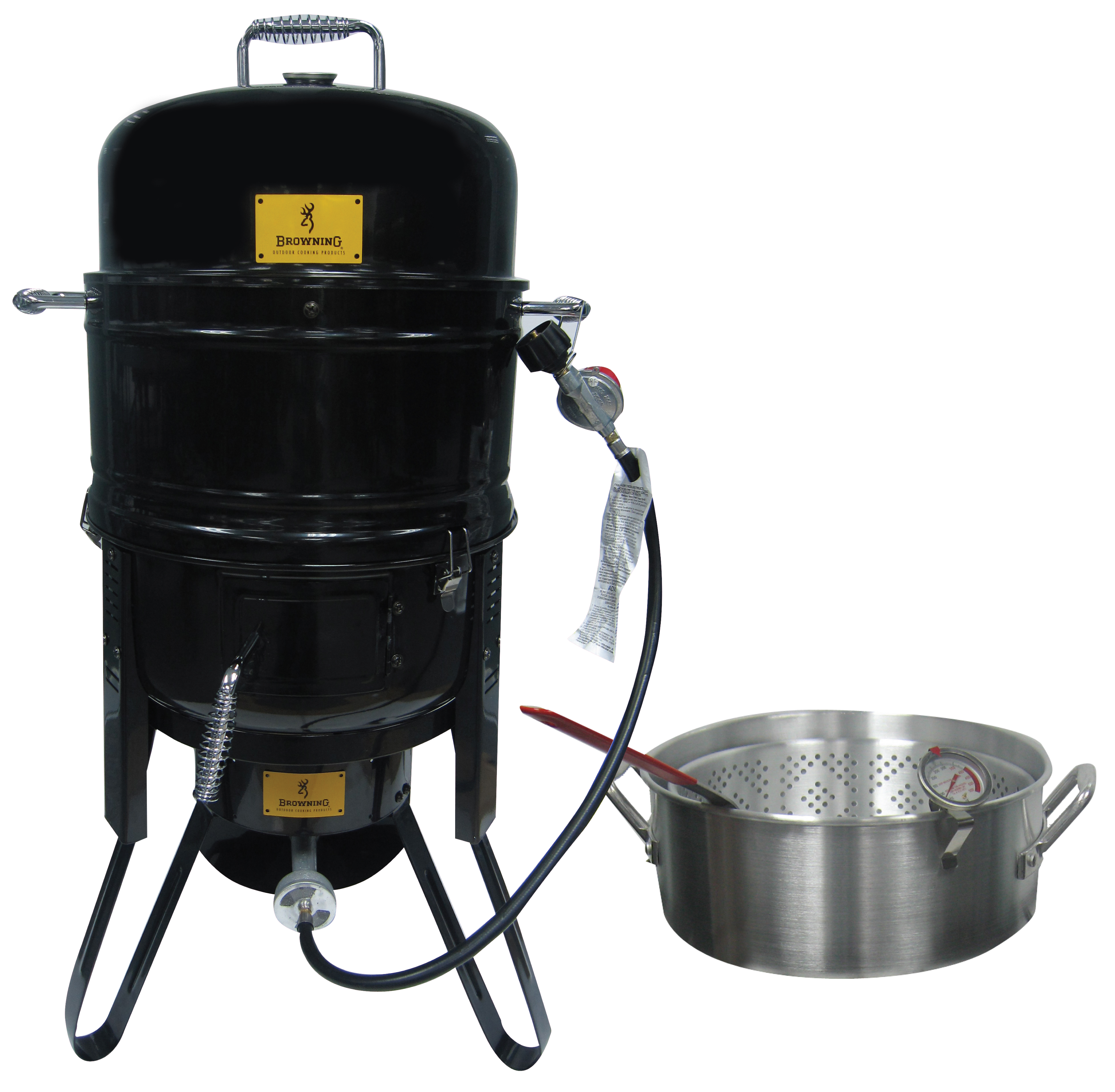 smoker with fish fryer