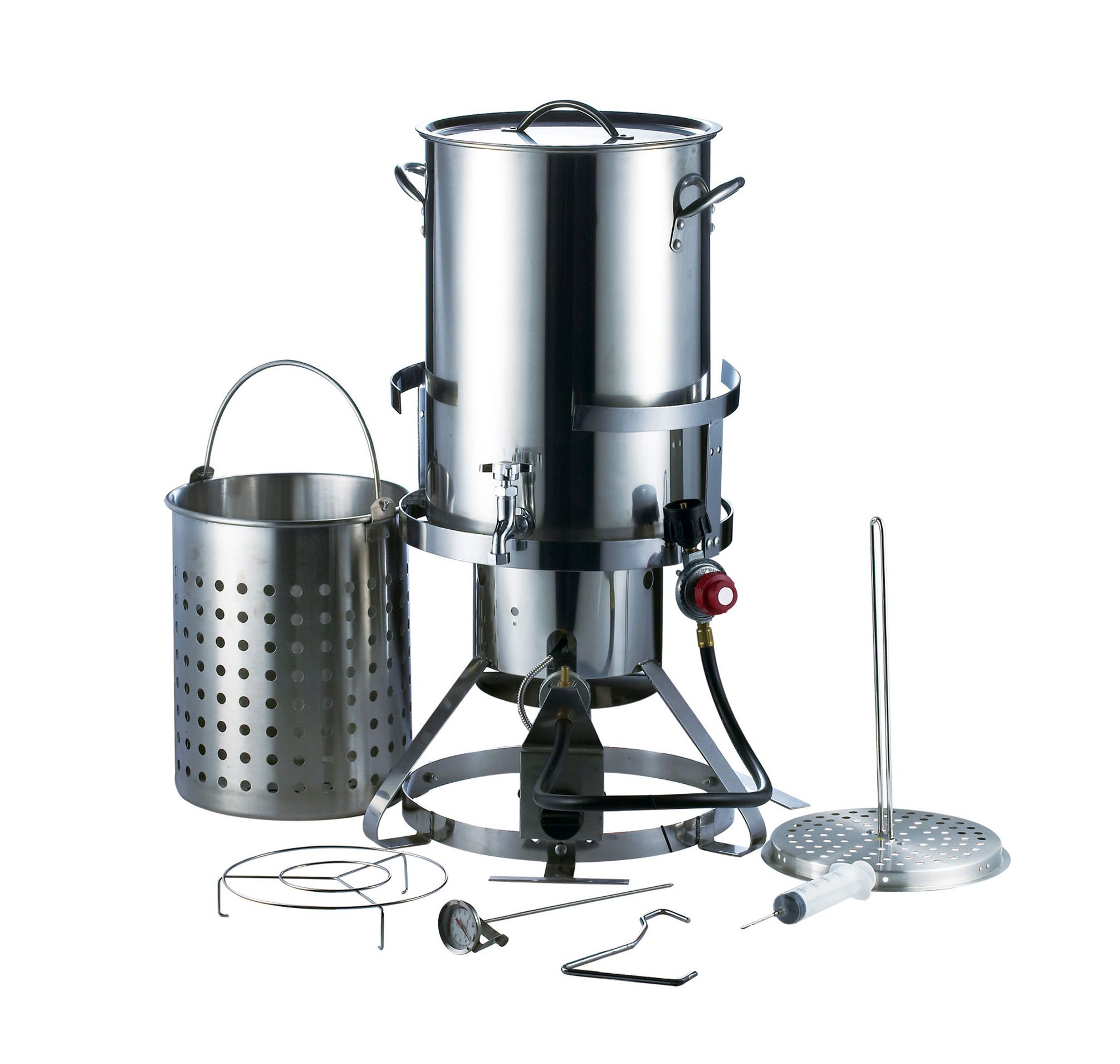 30QT. Stainless Steel Turkey Fryer Set
