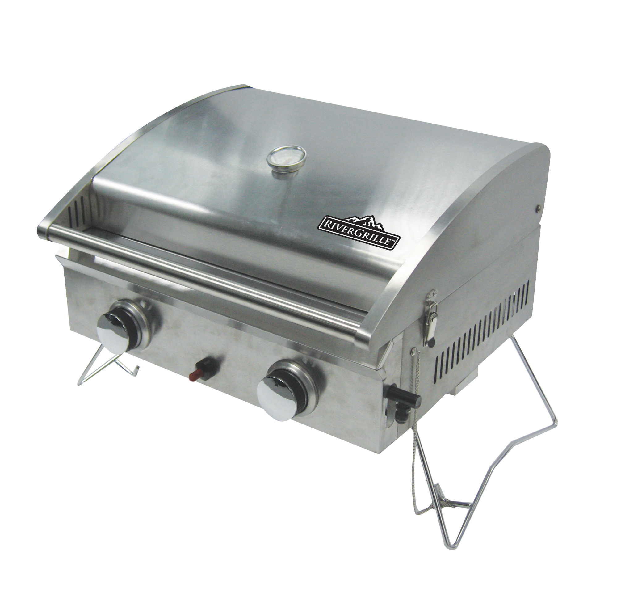 Deluxe 2 Burner Stainless Steel Tabletop Gas Grill